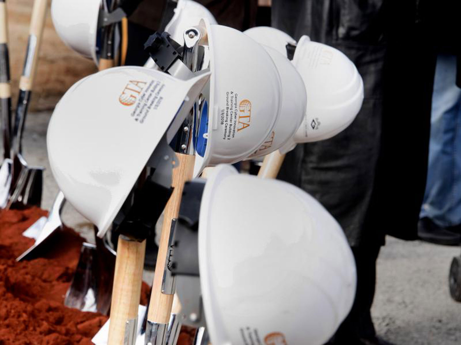 Hard Hats at Shaffer MacCartney Building Groundbreaking