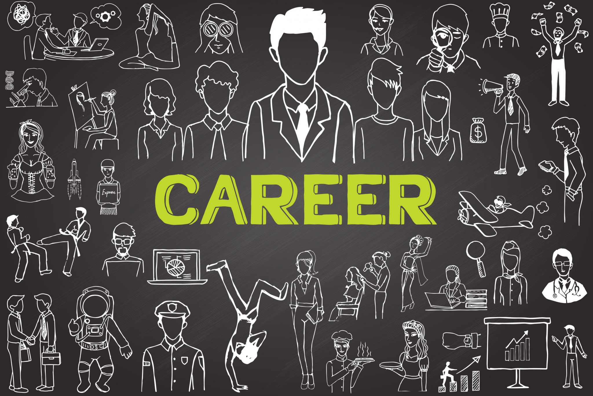 chalkboard doodle career 90158636 GCC Green