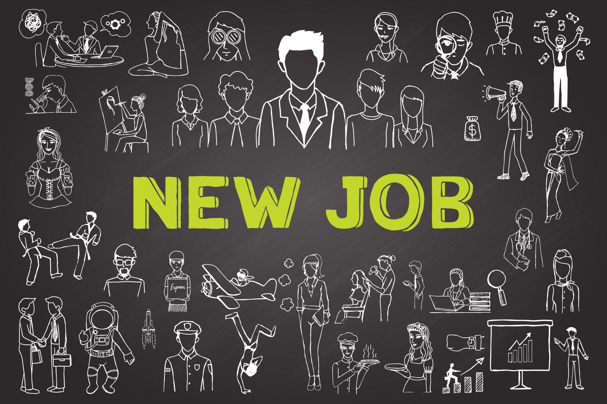 chalkboard doodle new job 101657090 GCC green