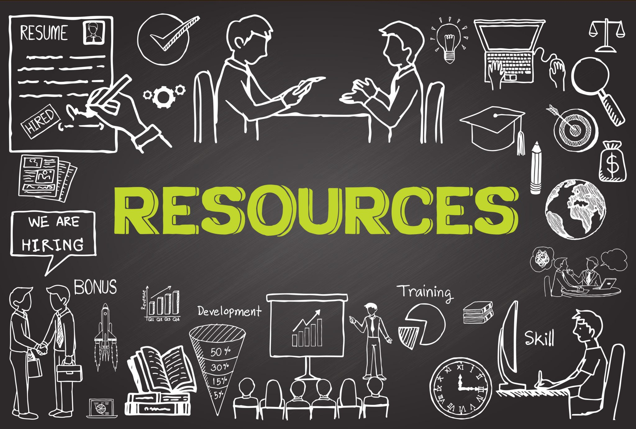 resources chalkboard